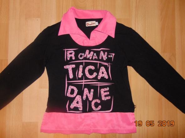 czarno różowa bluzka