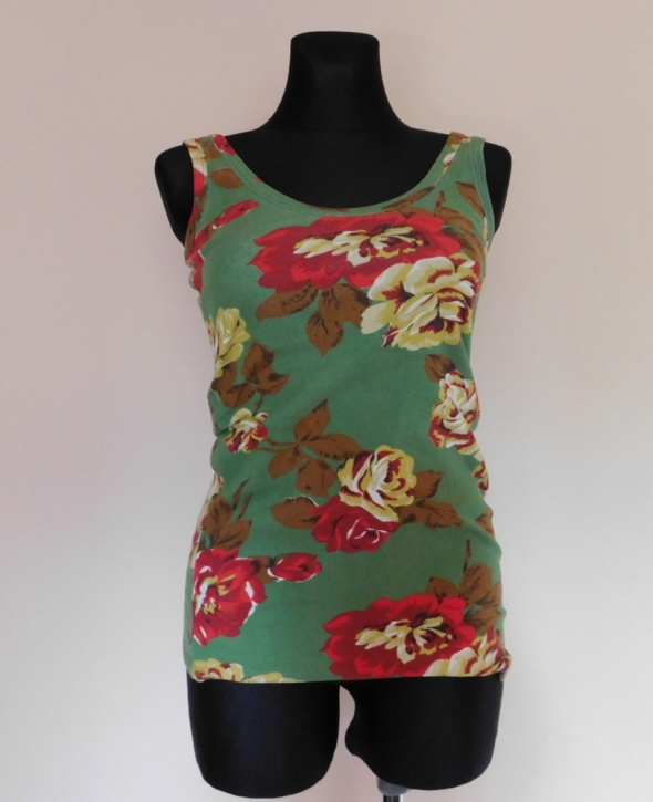 Next koszulka bluzka bokserka kwiaty 38