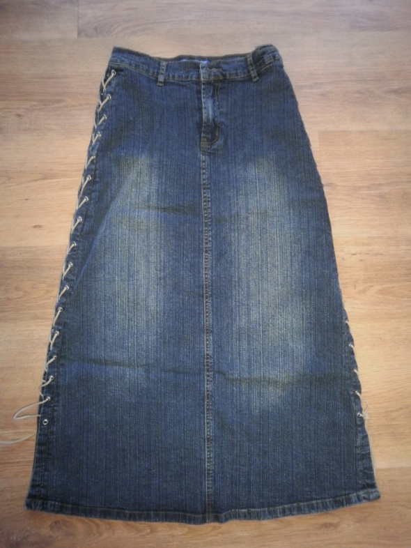 Długa jeansowa spódnica