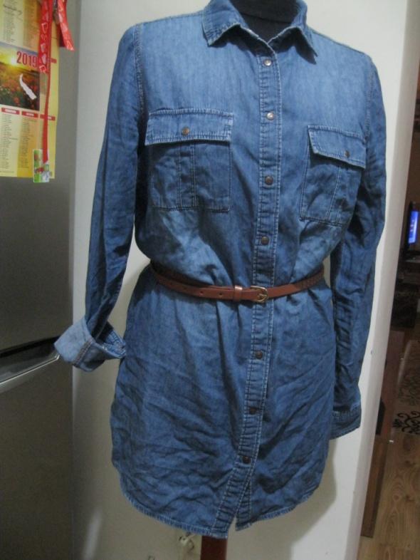 koszula jeans tunika NEW LOOK 38 niebieska