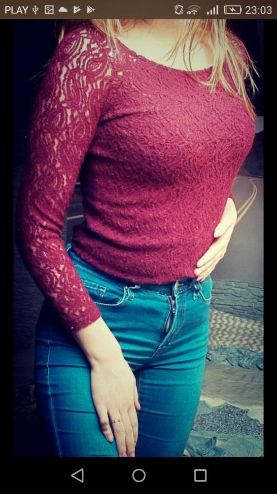 Burgundowa bluzka...