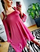 Asymetryczna zwiewna sukienka