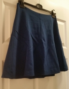 Reserved granatowa spódnica mini rozkloszowana...