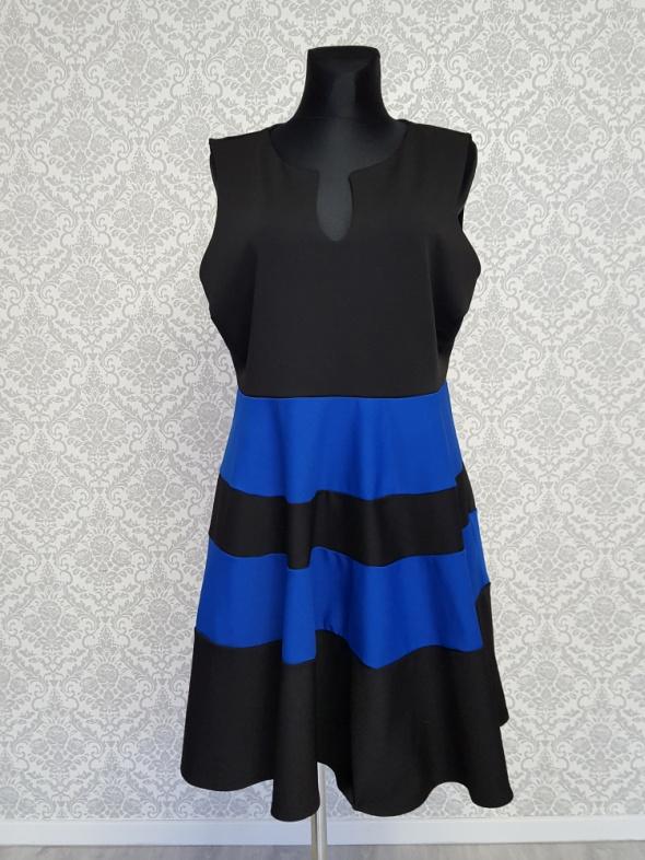 czarno niebieska sukienka The Limited