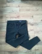 Modne czarne rurki jeans wysoki stan XL 7 8...