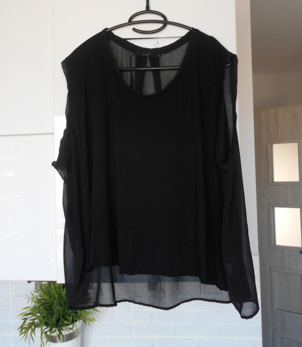 COS nowa bluzka mgiełka koszulka czarna minimalizm minimal