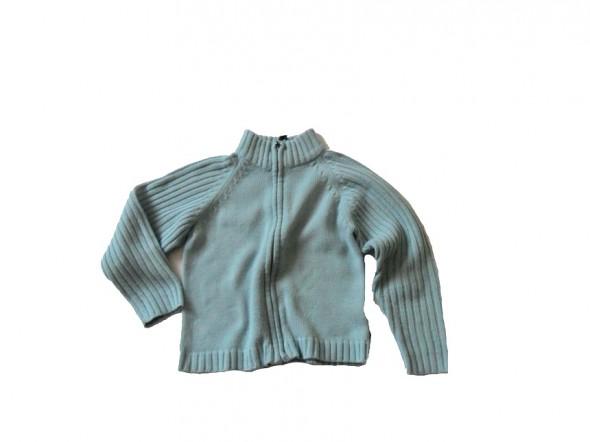 Sweterek niebieski na zamek 134 140