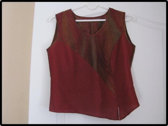 bluzka bez rękawa z rozcięciem rozmiar L