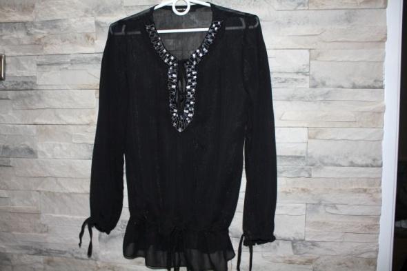Czarna koszula mgiełka zdobienia Tally Weijl