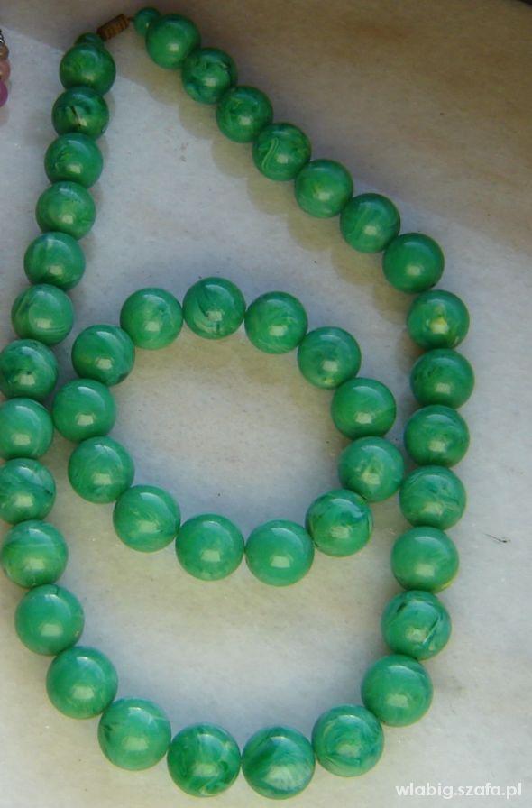 kule zielone z bransoletka