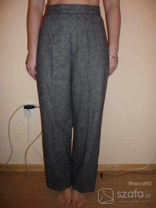 Spodnie szare wełniane