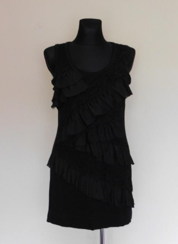 Alba Moda czarna sukienka mini 42