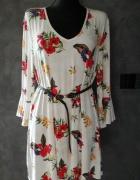 Wiskozowa sukienka z dekoltem V 18 46...
