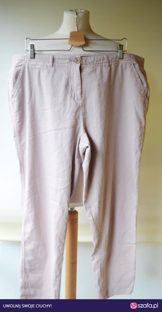 Spodnie 46 New Look Brudny Róż Rurki XXXL w Spodnie Szafa.pl