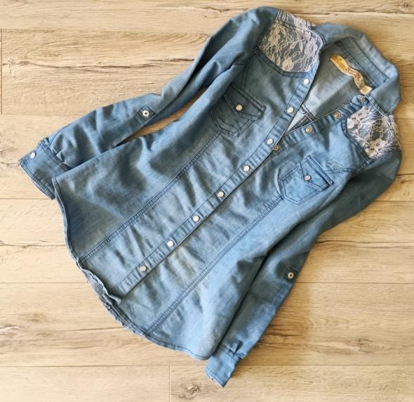 LEE COOPER koszula jeans z koronką ideał S...