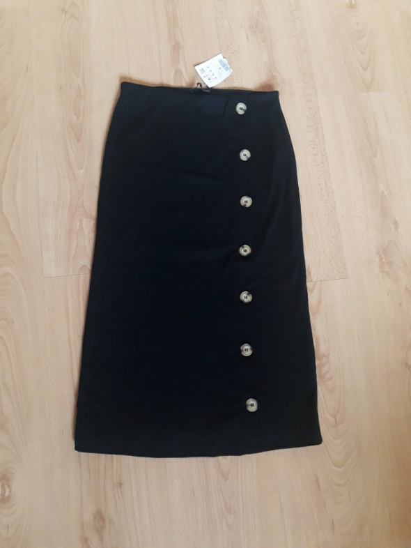 Nowa spódnica Pull&Bear długa z guzikami midi prążkowana maxi