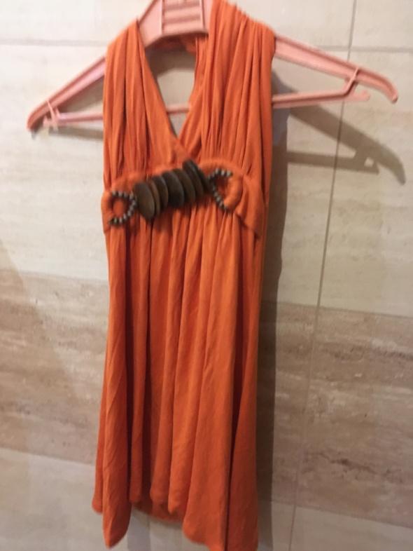 bluzka pomarańczowa odkryte plecy 36 S amisu new yorker...