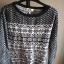 Sweterek zimowy norweskie wzory XS NEXT guziczki ciepły