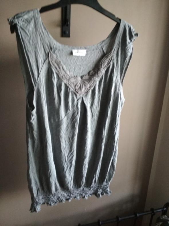 Szara koszulka orsay M haftowane koronki...