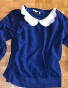 Granatowa koronkowa bluzka New Look
