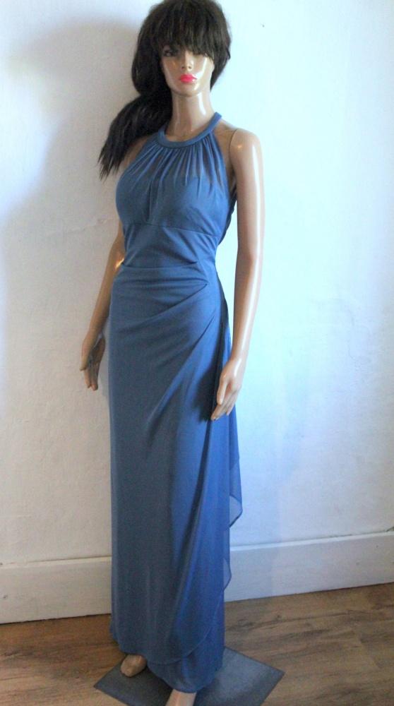 Elegancka sukienka maxi halterneck r S