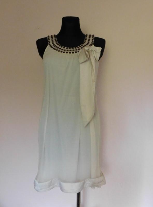 Vero Moda sukienka ecru jedwab 36...