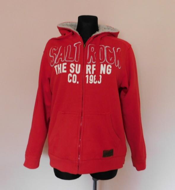 Saltrock czerwona bluza z kapturem 40