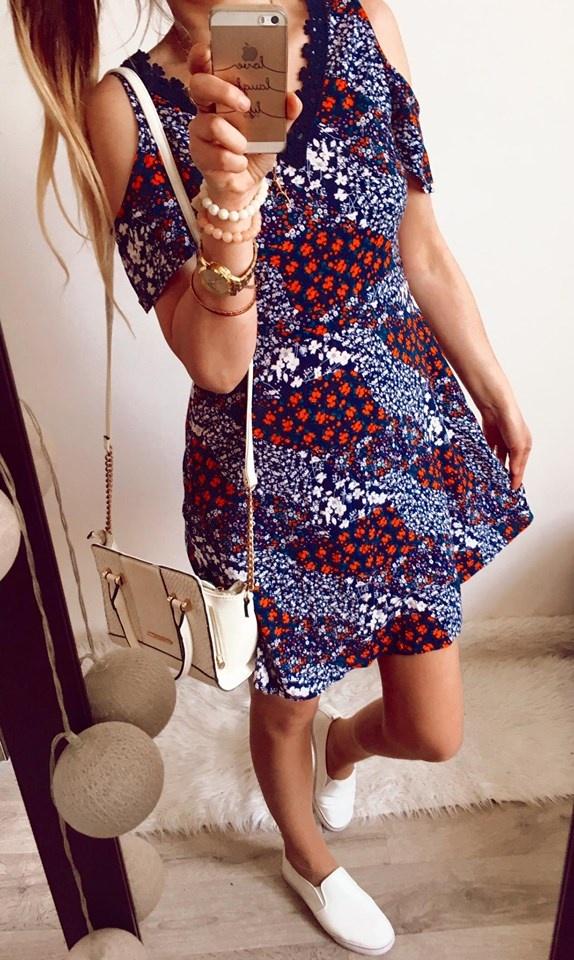 Sukienka Damska w kwiaty S
