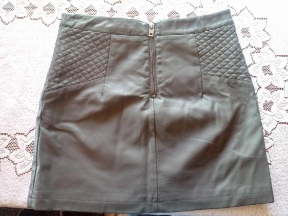 Spódnice szara skórzana mini