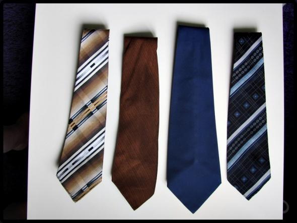 Krawaty różne wzory 4 sztuki