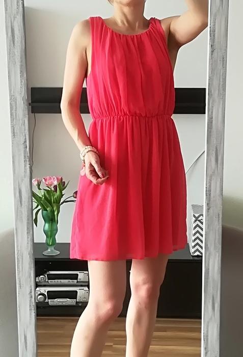 New Look malinowa letnia sukienka 42 44...