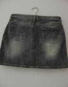 Szara jeansowa spódnica 38 M kieszenie przetarcia...