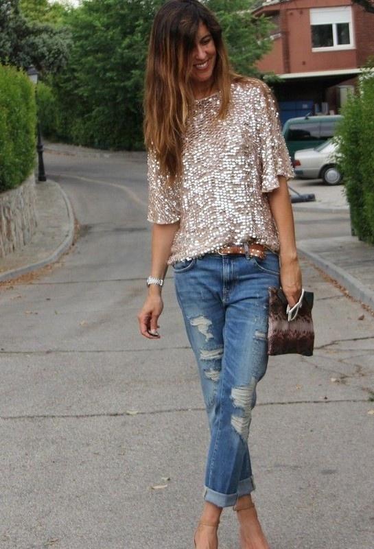 Cekinowa bluzka Zara 38 M