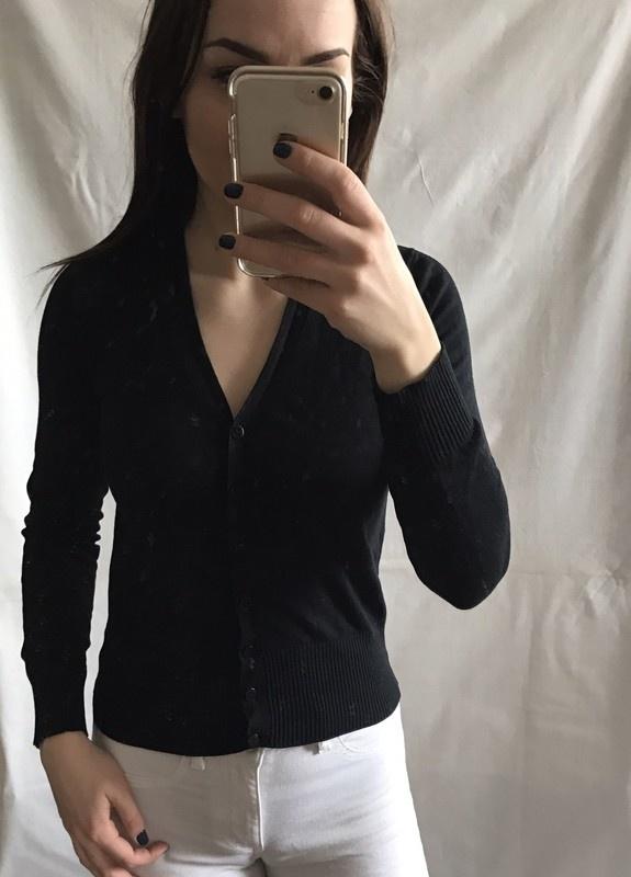 Czarny klasyczny kardigan Marks&Spencer 36 S