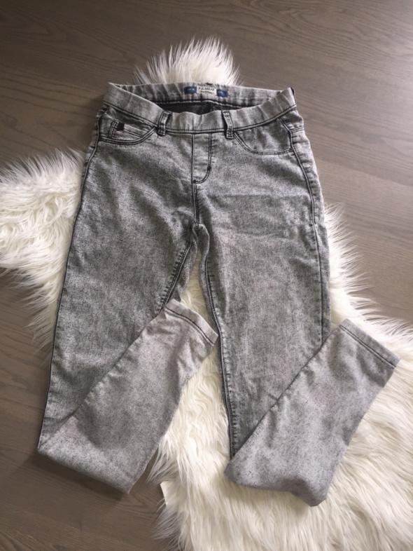 PULL & BEAR tregginsy marmurki szare spodnie 36 S