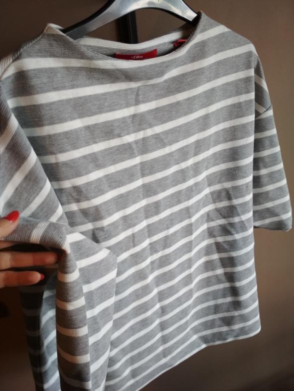Szara bluzka w białe paski 34 SOLIVER