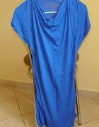 chabrowa kobaltowa tunika sukienka 36 38...