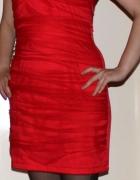 Sukienka czerwona ramiączka 38 wesele studniówka...