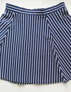 H&M mini spódniczka rozkloszowana w paski