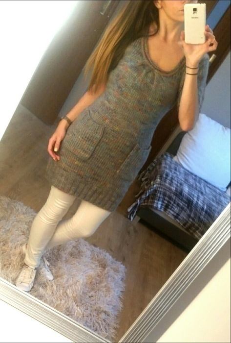 Nowa sweterkowa sukienka tunika