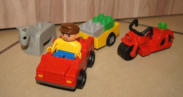 Figurka auto motor koń Lego Duplo klocki zestaw...