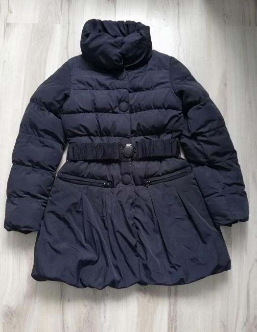 Płaszcz jesienno zimowy dziewczynka granat 134