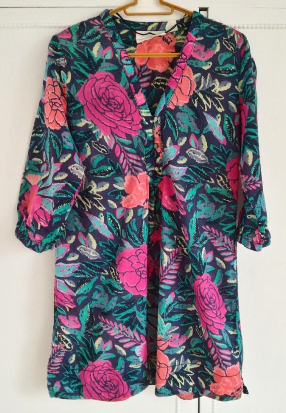 Piękna egzotyczna tunika H&M S 36 bawełniania bluz