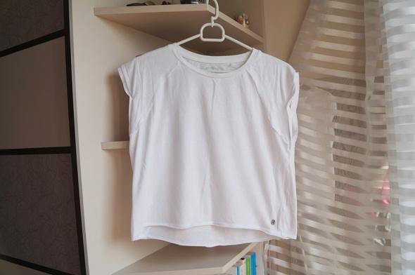 Biała krótka koszulka New Yorker M