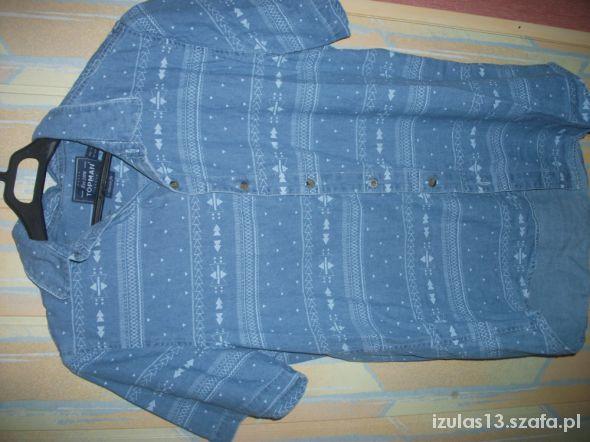 Jeansowa koszula w azteckie wzory