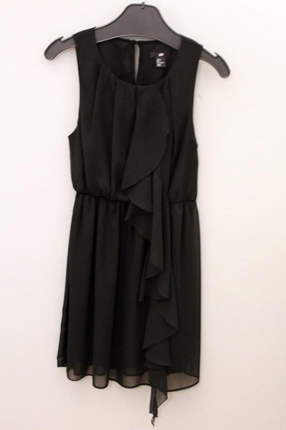 Czarna sukienka bluza Adidas 36 S taliowana logo
