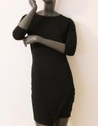 SinSay sukienka mała czarna z wycięciem 38 M mini asymetryczny ...