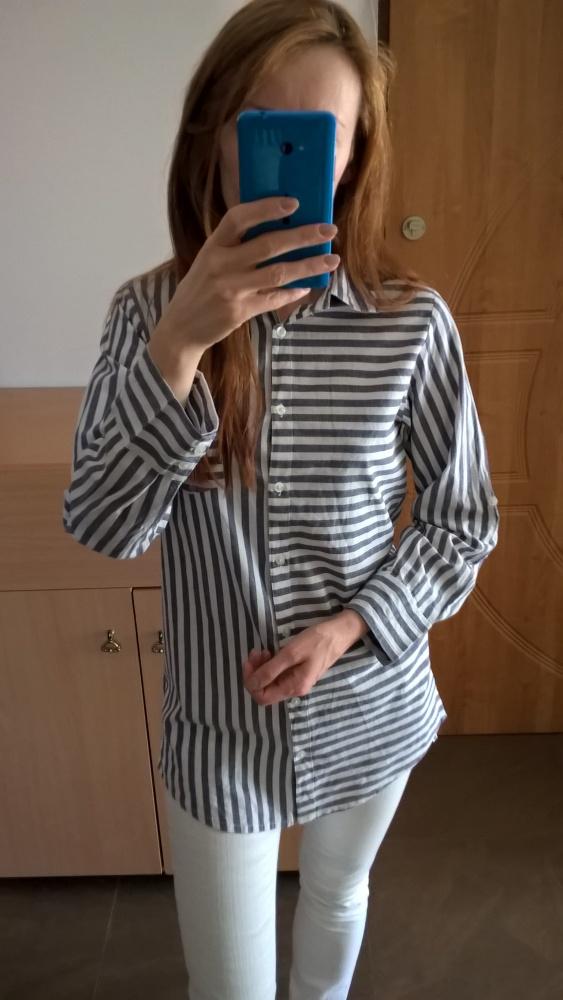 Bawełniana koszula w paski S M