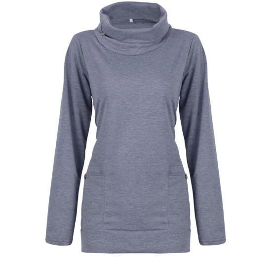 Dłuższa bluza ze stójką na zimne dni s m l xl xxl xxxl