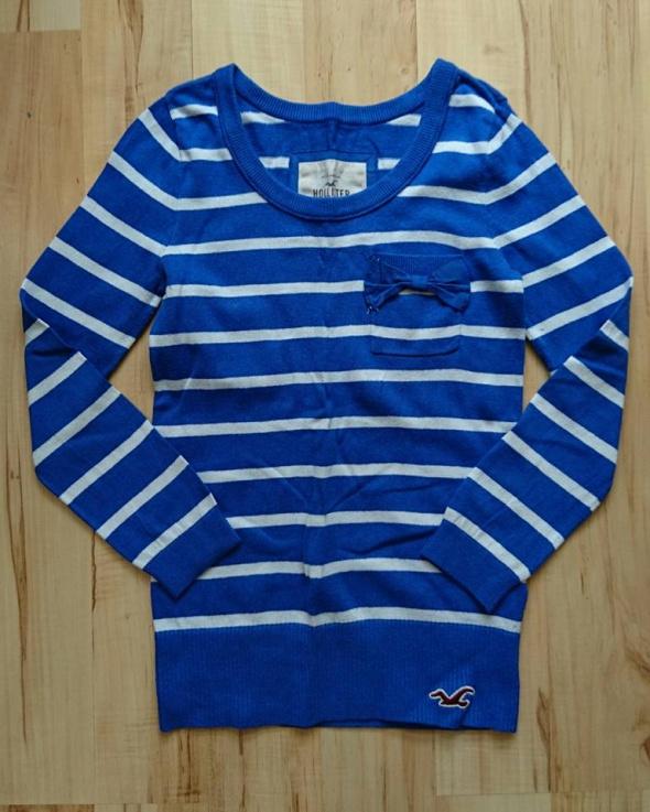 Sweterek Hollister niebieski rozmiar XS